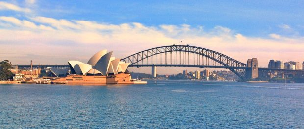 Sydney Opera House and Harbour Bridge View  620x264 - View Best Place To Take Pictures Of Sydney Opera House  PNG