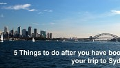 Things to do before you go to Sydney