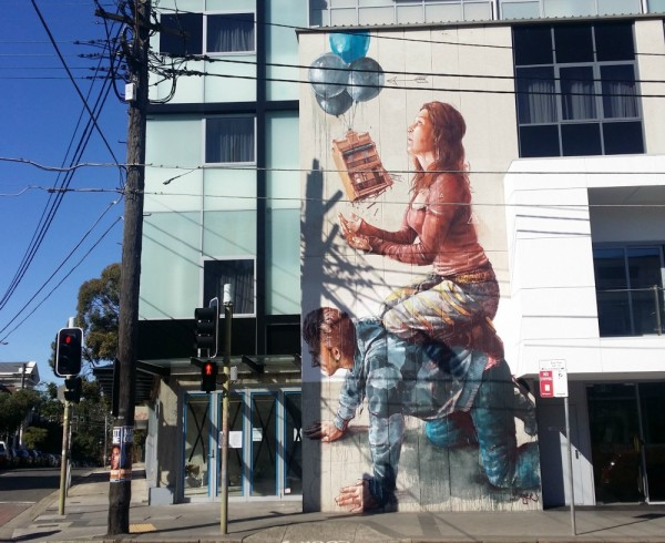 Fintan housing bubble enmore Newtown street art walk Sydney Australia