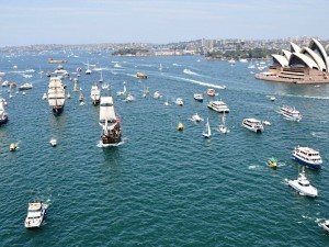 Australia Day in Sydney Tall Ship race