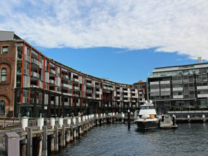 Walsh Bay housing and shops