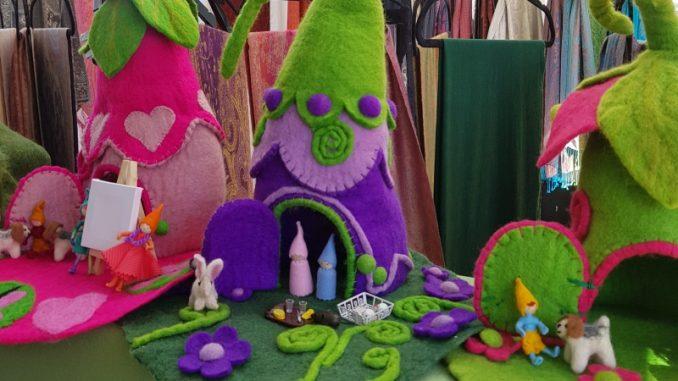 Felt toys Paddington Markets in Sydney