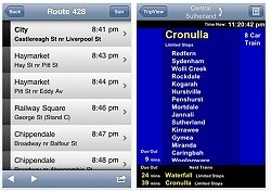 Sydney travel apps tripview