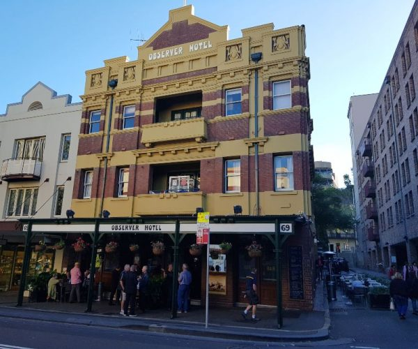 The Observer Hotel in the Rocks Sydney