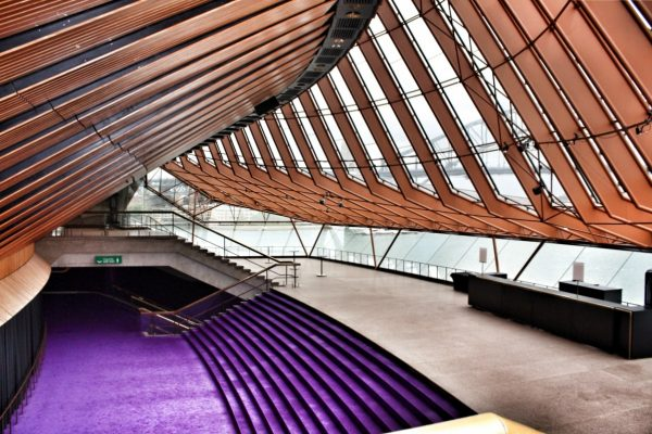 Sydney Opera House tour - Northern Foyer famous purple carpet