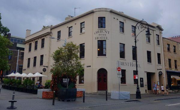 The Orient Hotel Pub in the Rocks Sydney Australia