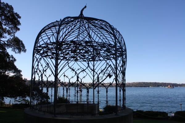 Fiona Hall metalwork scupture Botanic Gardens