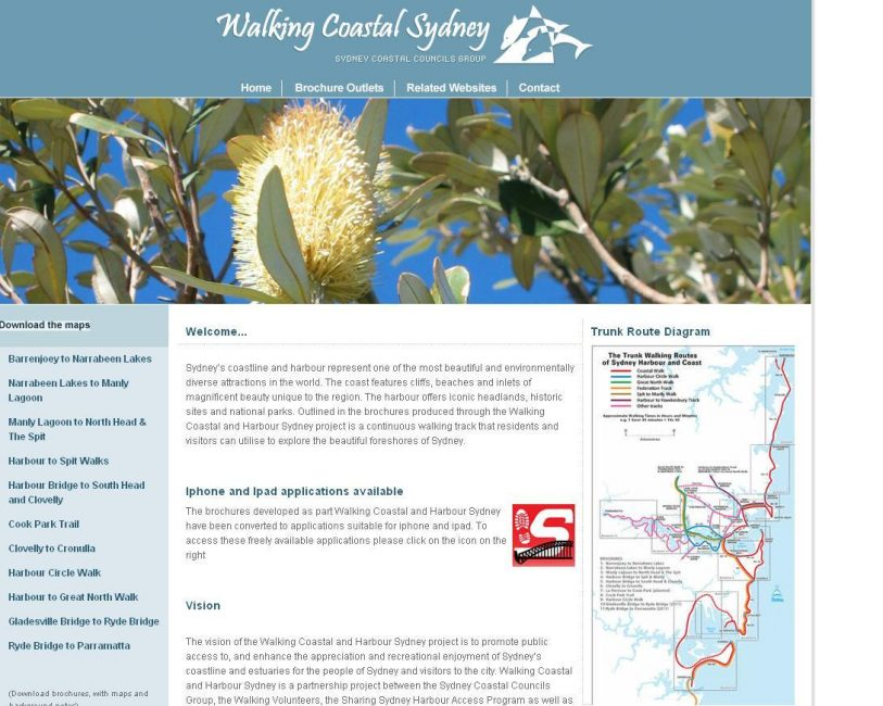 Walking Coastal Sydney Website