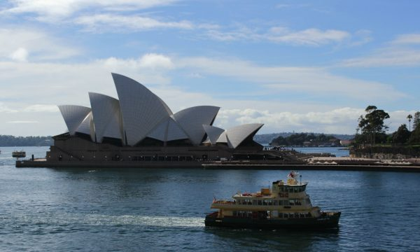 A photo of the Opera House from the Overseas Passenger Terminal
