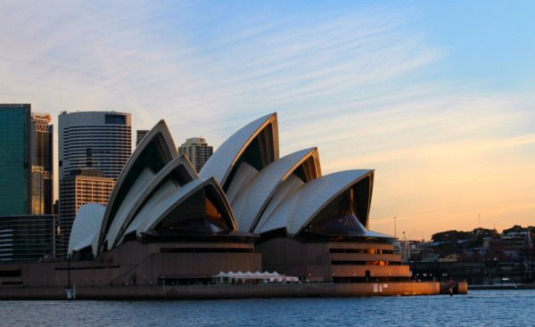 photo of the Sydney Opera House in the late afternoon sun