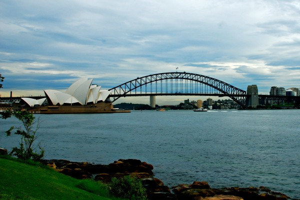 The view of Sydney Opera House from Mrs Macquaries point