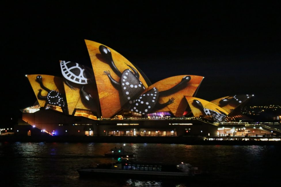 a photo of the Sydney Opera House during the VIVID festival