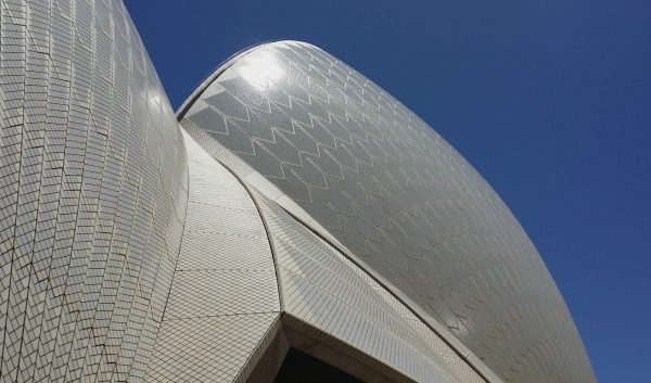 Close up view of Sydney Opera House tiles
