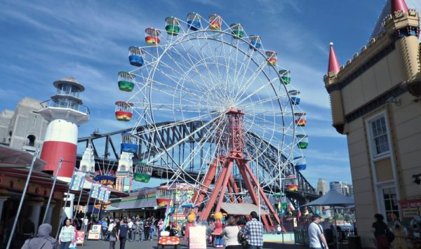 Ferris Wheel at Luna Park is a fun place to propose in Sydney