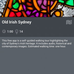 Sydney Irish walking tour app