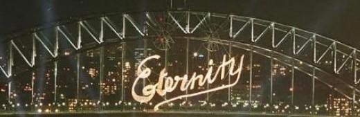 Eternity Sign Sydney Harbour Bridge NYE