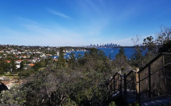 Looking from Watsons Bay walk and the Gap to the City