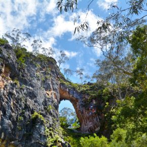 Landscape of Carlotta Arch in the Jenolan Caves at Blue Mountains of New South Wales, Australia.