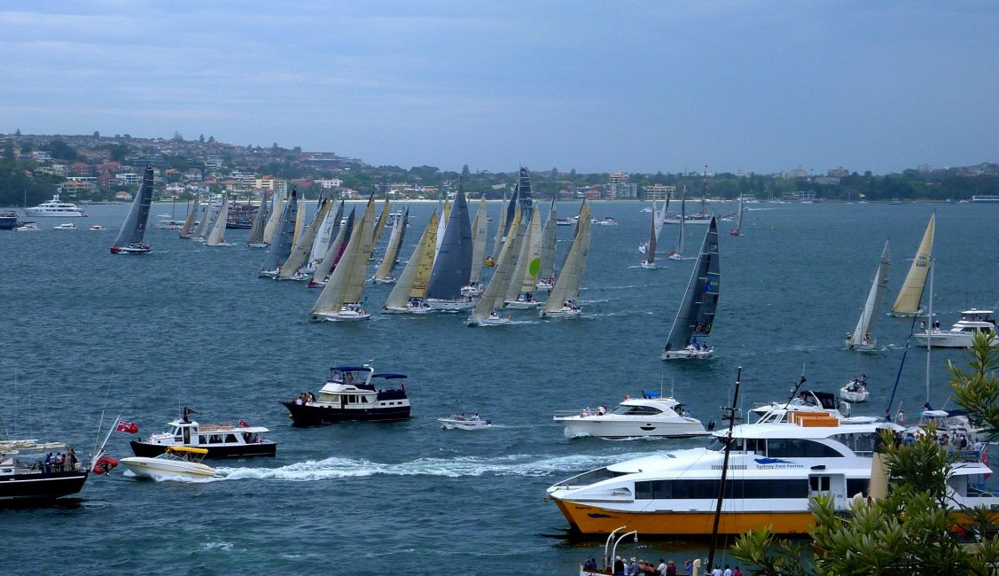Sydney to Hobart Race Starting line