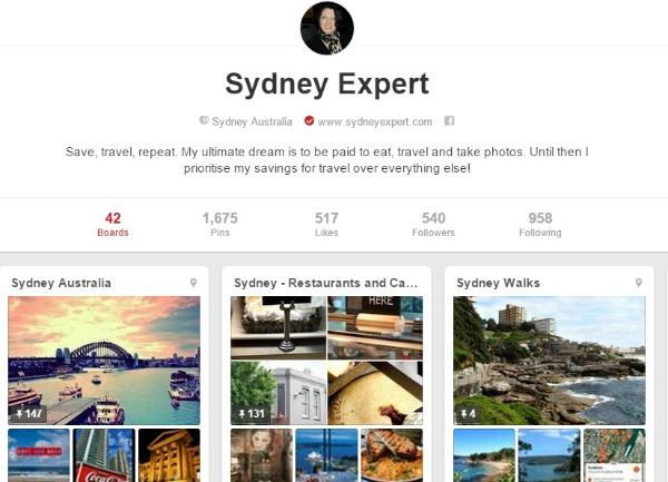 Sydney Pinterest Board