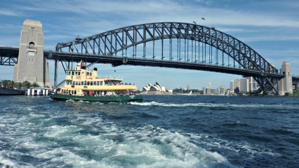 View from Sydney harbour Ferry