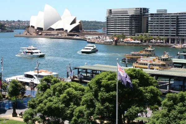 View from the Cahill Walk Sydney