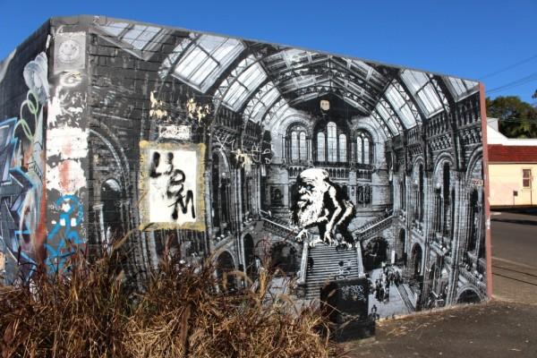 British museum stencil mural enmore