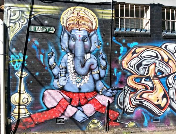 Darley St Elephant Newtown street art walk Sydney Australia