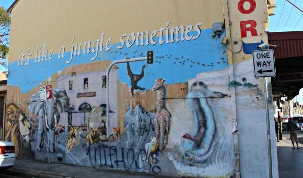 Enmore Road Jungle Grafitti Newtown inner west street art walk Sydney Australia