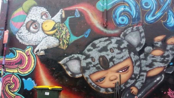 colourful mural Newtown