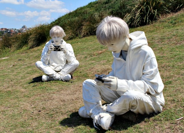 Sculpture by the sea 2015 white boys