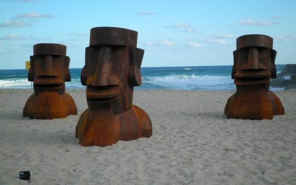Sculpture by the sea metal men