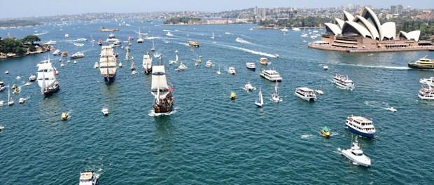 Australia Day in Sydney Tall Ship race