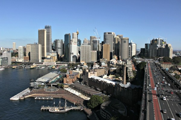 Sydney CBD from the Harbour Bridge Pylon lookout