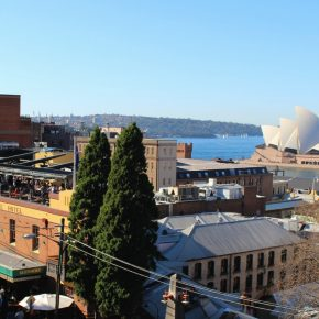 Roof top bar with a view Glenmore Hotel The Rocks