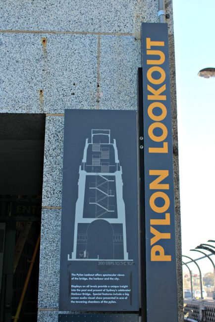 Sydney Harbour Pylon lookout entry