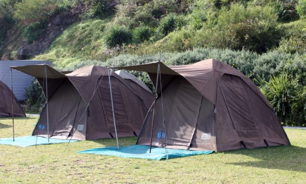 Camping tents at Cockatoo Island Sydney Harbour