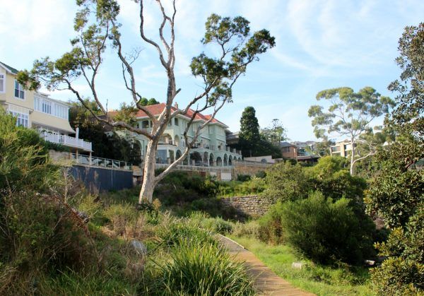 Million dollar homes along Hermitage track