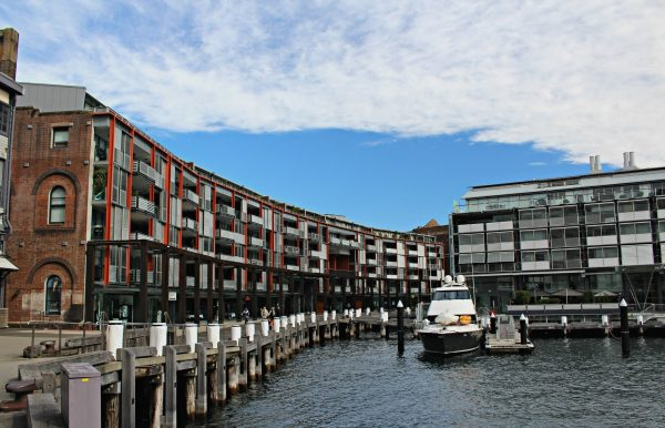 Walsh Bay housing and shops
