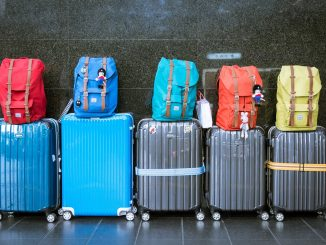 Colourful luggage that needs to be stored