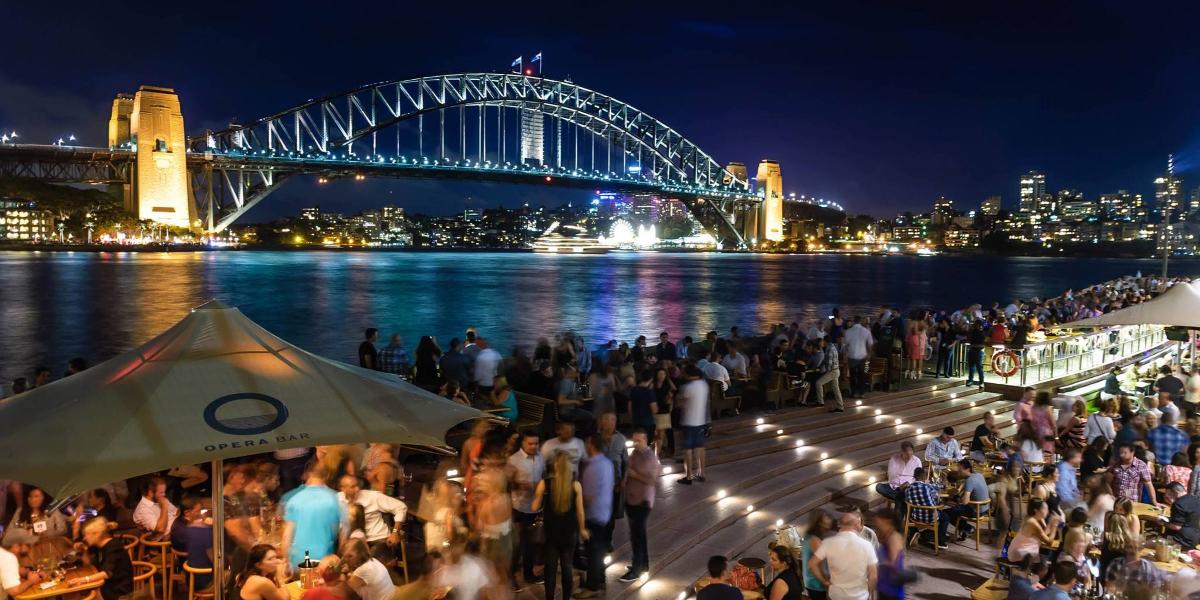 Dining at Opera Bar in Sydney