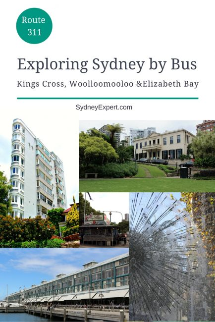 Get off the beaten tourist trail in Sydney and find some new things to do.  This self-guided tour uses the local 311 public bus to visit the Eastside suburbs of Kings Cross, Woolloomooloo and Elizabeth Bay, some of Sydney's oldest harbour suburbs.