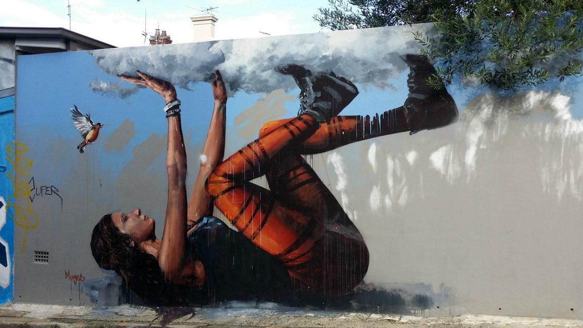 Fintan Magee Bracing a falling Sky in King Lane