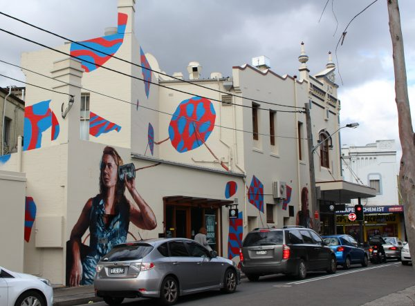 Fintan Magee Mural in Church St Newtown