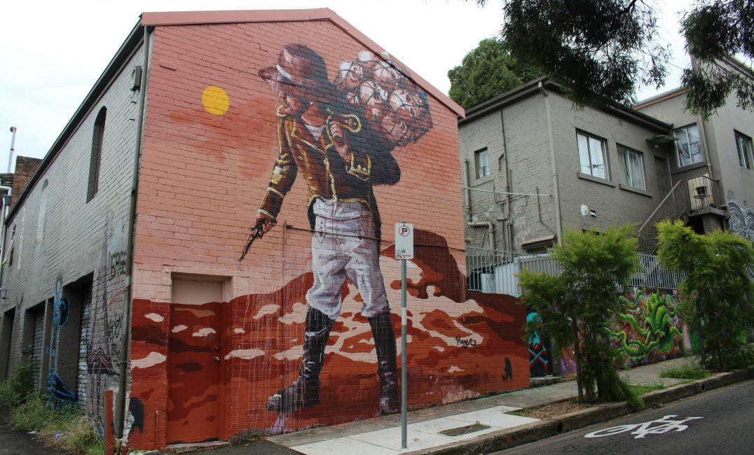 A mega list of fintan magee murals in sydney for Australian mural