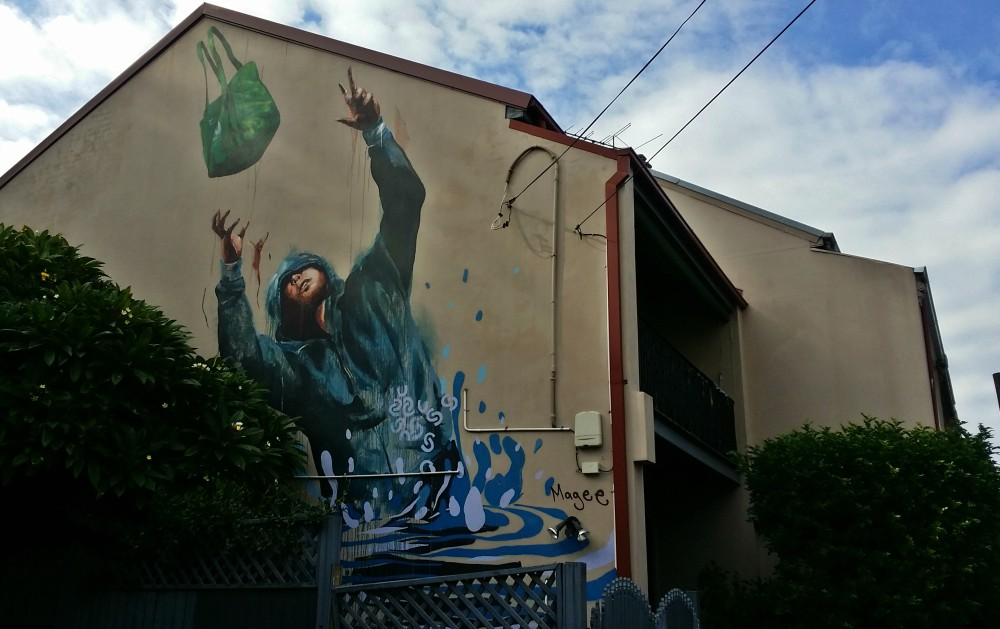 Fintan Magee Mural Church St Newtown