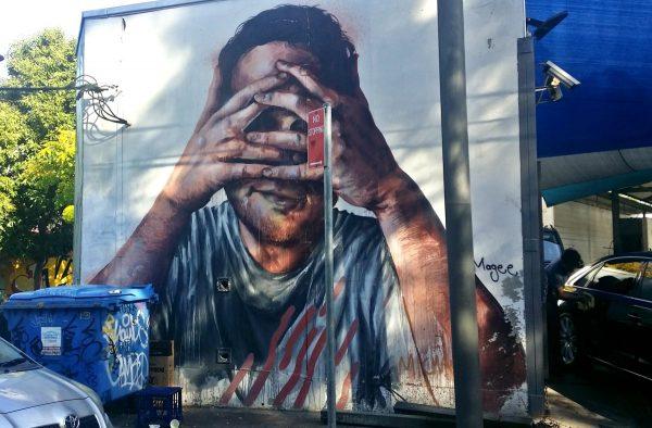 Street art in Redfern Australia Fintan Magee Mural Sydney Self Portrait