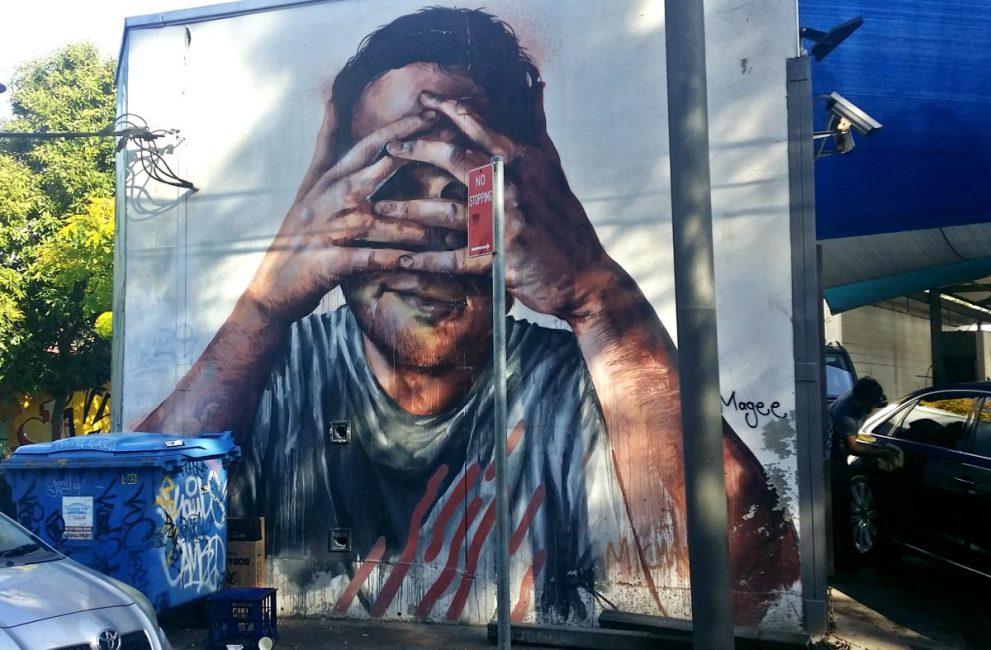 Fintan Magee Mural Sydney Self Portrait