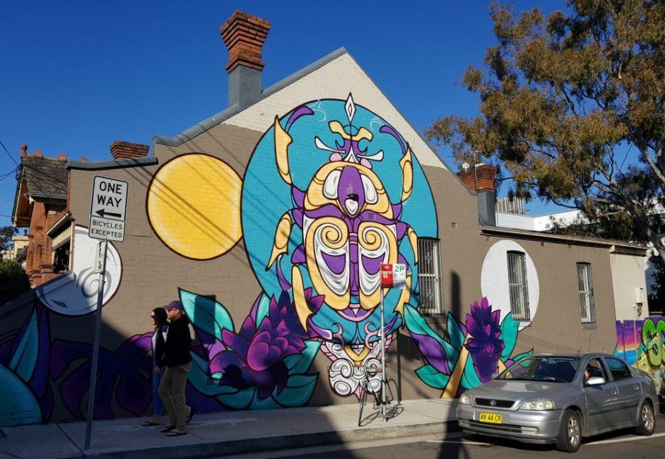 Newtown street art walk lennox street
