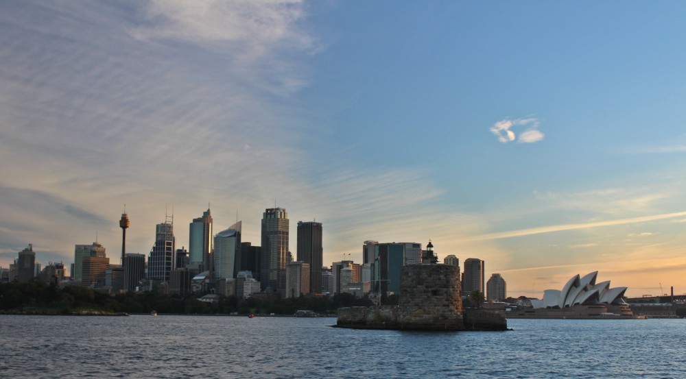Sunset from a Sydney Harbour Cruise a perfect experience